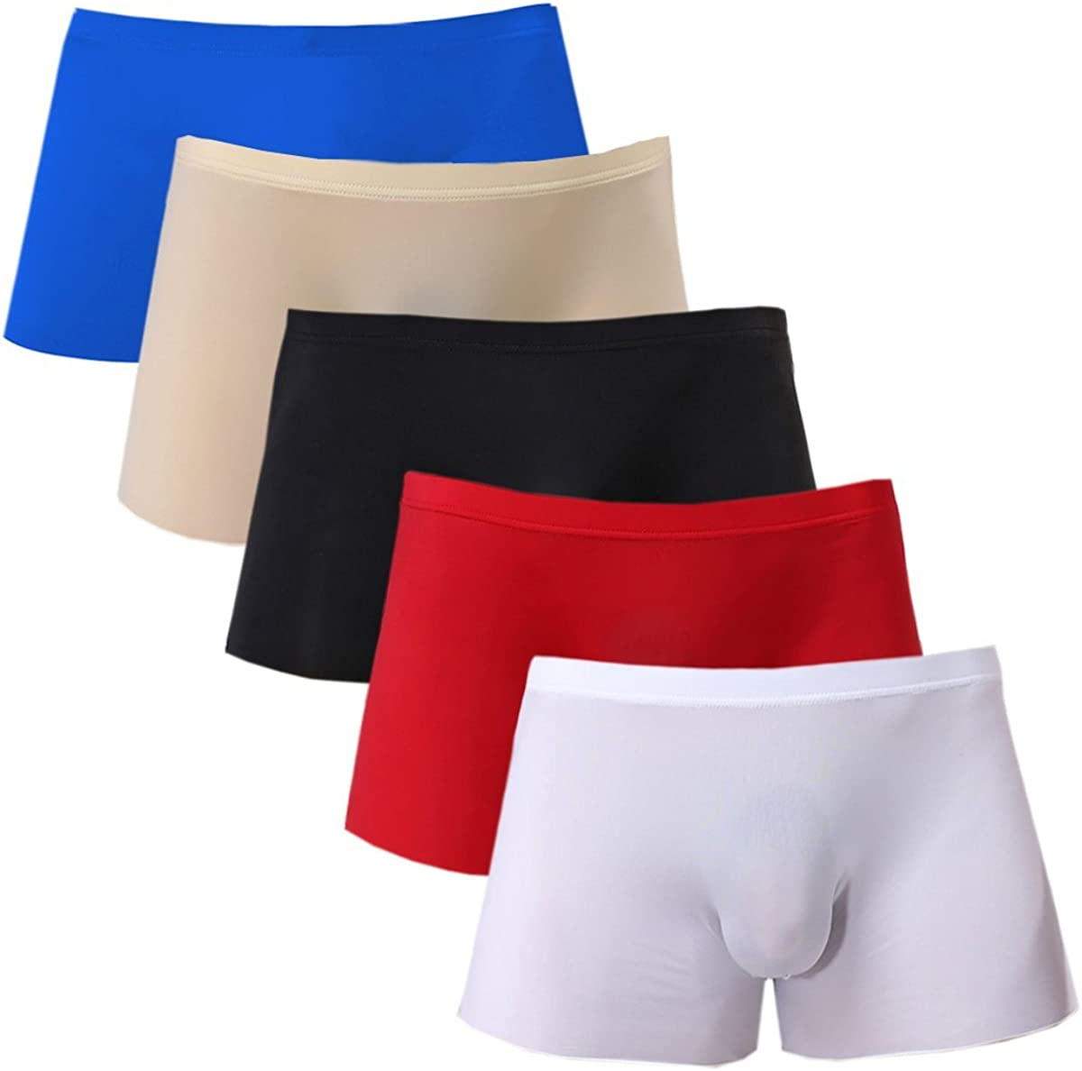 Mens Inexpensive Max 85% OFF Silky Underwear Sexy Boxer Briefs Seamless