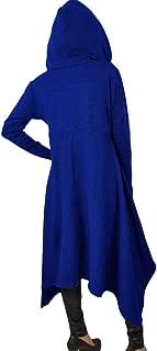Womens Asymmetric Hem Long Sleeve Loose Casaul Hoodies Sweatshirts Tunic Tops
