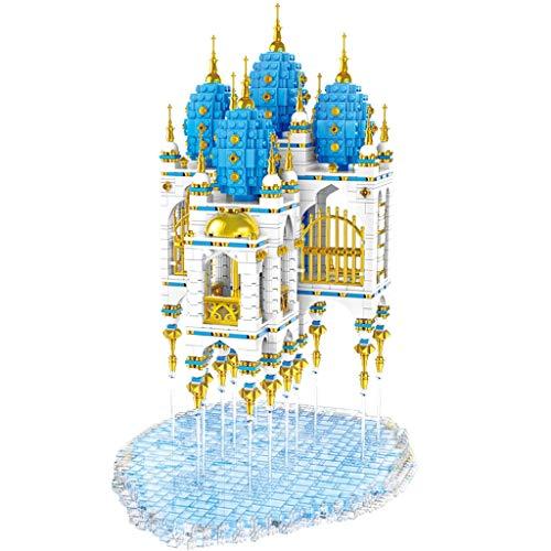 hsj Building Blocks Street View Schwimm Sky City Lights Erwachsene Schwierige Spielzeug-Mädchen-Geburtstags-Geschenk zusammenbauen Exquisite Verarbeitung
