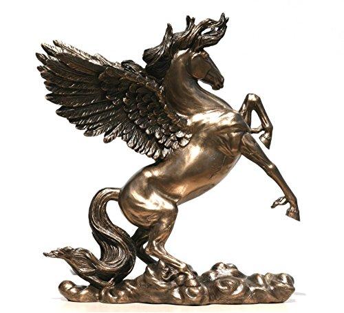 Veronese PEGASUS Alato Cavallo Dio Mitologia Greca Statua Scultura Bronzo Finitura 11