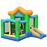 SYue Castillo Hinchable Inflable para niños, Castillo Hinchable Inflable para niños Trampolín de Interior Casa de la Hamaca de Juego Grande con Muro de Escalada