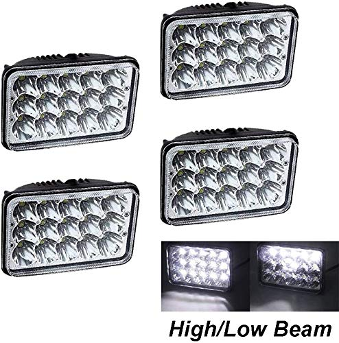 DOT Approved H4656 H4666 Sealed Beam LED Headlight Conversion Kit 4x6 Inch Lamp For Trucks GMC W3500 W4500 W5500 Forward Isuzu NPR-HD NQR
