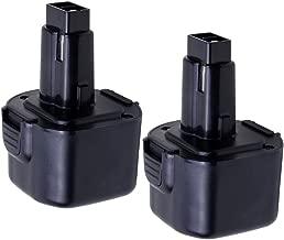 VANON 2.0Ah 9.6V Replacement Battery Compatible Dw9062 Battery Dewalt Dw9061 Dw9036 De9062 Dw9614 Dw050 Dw902 Dw911 Dw921 Dw926 Dw926k Dw926k2 Dw955 Dw967k;Black & Decker PS120 Fire Storm