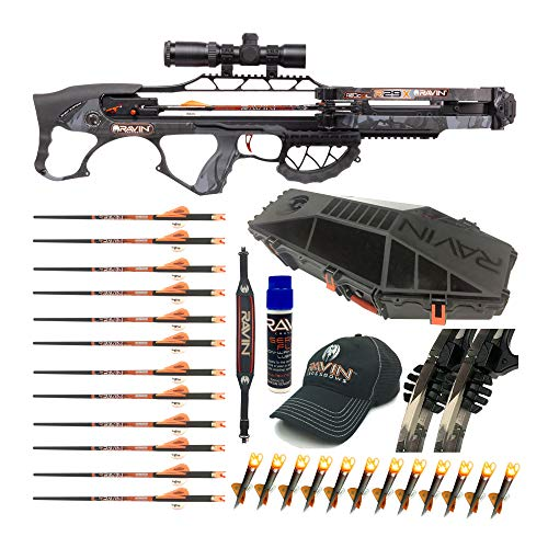 Ravin Crossbows R29X 450 FPS Crossbow Package with Hard Case and Arrows Bundle (11 Items)