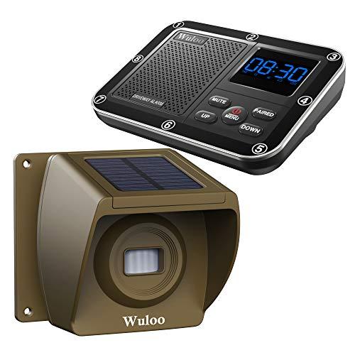 Best Prices! Solar Driveway Alarm Wireless Outside 1800ft Range, Outdoor Motion Sensor & Detector Dr...