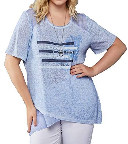 No Secret T-Shirt Maglietta Intima da Donna a Maniche Corte con Una sorprendente Stampa Frontale Blu, Dimensione:42
