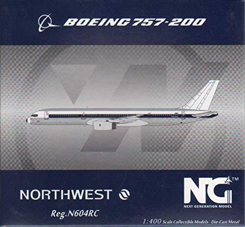 NG Model NGM53032 1:400 Northwest Airlines Boeing 757-200 Reg #N604RC (pre-Painted/pre-Built)