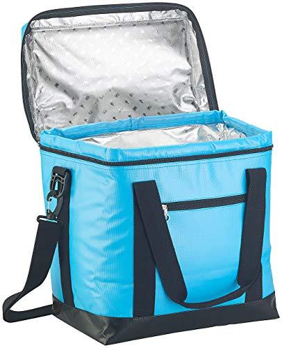 PEARL Thermo-Kühltasche: Faltbare Kühltasche mit Griffen, wasserdichte Lkw-Plane, 26 l, blau (zusammenfaltbare Kühltasche)