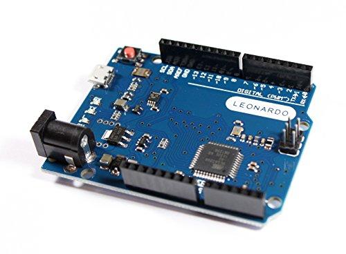 Leonardo Tarjeta de Desarrollo con ATMEGA32U4, 5V, 16MHz, 100% Arduino Compatible
