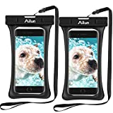 Ailun Waterproof Case 2Pack Aerated Floating Snowproof Dirtproof Bag Pouch Compatible iPhone 11/12 Pro Max/Mini/X/8/7/6s Plus/5s for Boating Hiking Swimming Diving