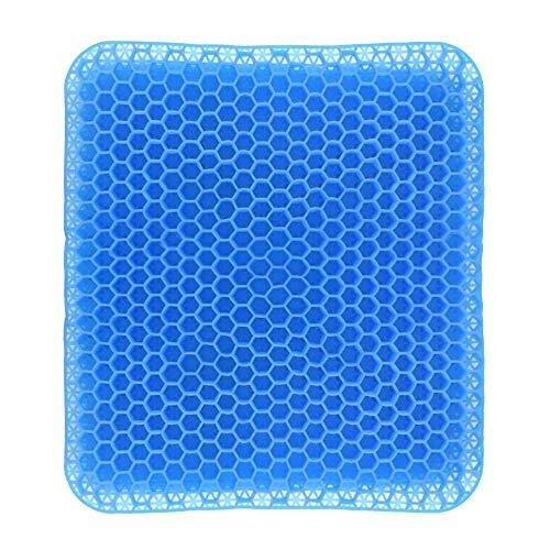 XJLJ Cojín de Asiento de Silla Ergonómica Honeycomb diseño Antideslizante Cool Gel Amortiguador del Asiento y Transpirable de Alta elástica del Amortiguador de la Silla del Asiento de Apoyo