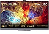 TCL 65C825 Mini-LED Fernseher 65 Zoll QLED Smart TV (4K HDR Premium, 100% Farbvolumen, Android 11, 100Hz MEMC, HDMI 2.1, Game Master Pro, Dolby Vision IQ & Atmos,ONKYO 2.1, 180° Viewing Angle) [2021]