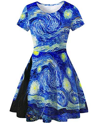 COUSIN CANAL Vestido de verano para mujer, de cintura alta,