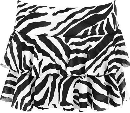 Classic Black and White Zebra Ra-Ra Skirt - Choice of Colours - Sizes 8 to 14
