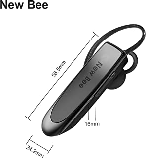 Bluetooth Headset 4.0 Earbuds 24 Hours Talk time Wireless Headphone in Car in Ear Headphone Earpiece for iPhone X 8 Plus 7 Plus 6 Plus 5S 5C 5 4S, Android, Samsung and Galaxy Note by New Bee