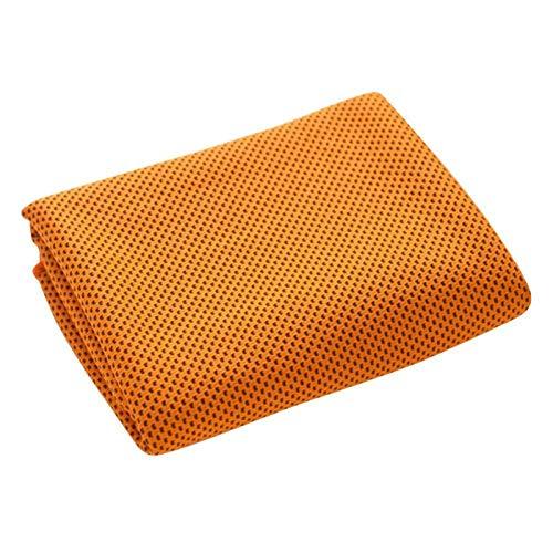 Toalla Deportiva Toalla de Deportes fríos de Verano de 2pcs, Toalla Deportiva fría de Secado rápido portátil, Toalla de Fitness Absorbente de Sudor (Color : 2PC Orange, Size : 30 * 100cm)