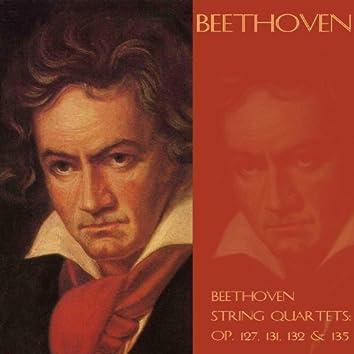 Beethoven string quartets:  Op. 127, 131, 132 & 135