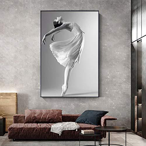 Baile de Ballet Blanco y Negro_1000pcs_Wooden Puzzle Puzzle_Rompecabezas de Paisaje ensamblado de Madera, Juguetes para Adultos, Juegos para niños, Juguetes educativos_50X75CM