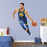 Fathead NBA Golden State Warriors Steph Curry Steph Curry- Officially Licensed Removable Wall Decal, Multicolor, Life-Size