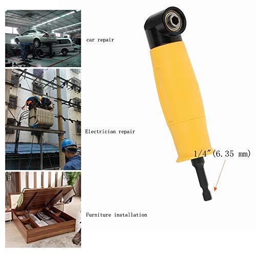 Schroevendraaierdop 1/4,90 ° Adapter voor schroevendraaierdop, met vergrendelings- en magnetische apparaten, Schroevendraaier-verlengbus voor alle elektrische boormachines en dopsleutel