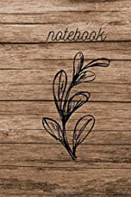 Notebook: Wood Design White Dandelion. Journal. For Nature Lovers. Simple notebook to write, doodle and draw. (110 Pages, Blank, 6 x 9)