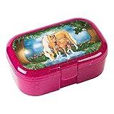 Mauder Verlag 10661 TapirElla Glitzer-Lunchbox Pferdezauber, aus Kunststoff, Brotdose mit Gemüse- Obstfach