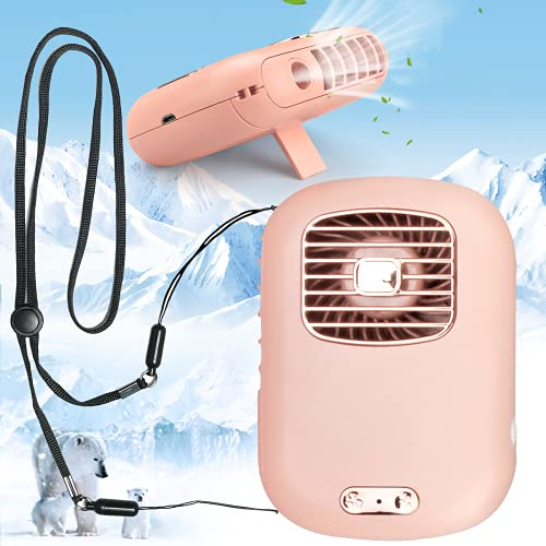 Portable Neck Fan, Personal Misting Fans Nano Mist Sprayer for Facial Hydration and Cooling, USB Mini Desk Fan Rechargeable Battery Operated Fan for Sport, Office, Home, Outdoor, Hiking, Camping, Travel