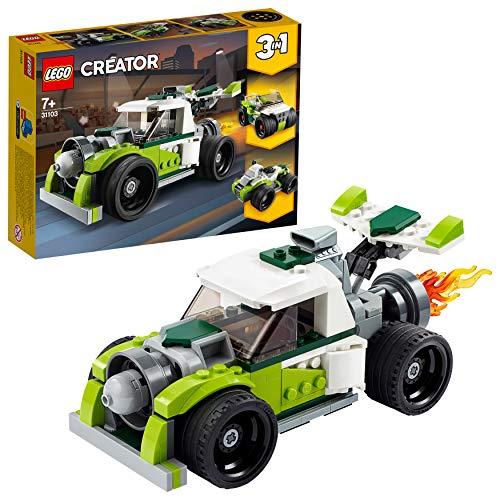 LEGO Creator - Camión a Reacción, Set de Construcción de Coche de Juguete, Set 3 en 1, Construye un Quad o un Todoterreno, a Partir de 7 Años (31103) , color/modelo surtido