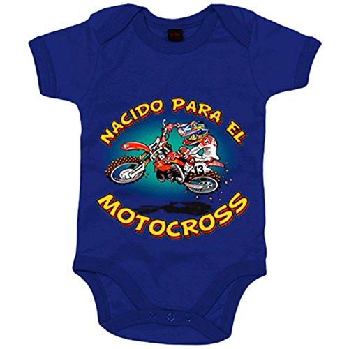 Body bebé nacido para el Motocross - Azul Royal, Talla única 12 meses