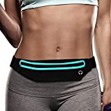 Filoto Running Belt, Waterproof Running Waist Pack for Women and Men, Fitness Workout Adjustable iPhone X 8 7 6 Belt Sport Pouch