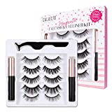※Most Powerful and Premium Formula Magnetic Eyeliner: Special eyeliner that contains ultra-fine magnetic particles that allow the magnetic eyelash to easily connect. The eyeliner is also smudge-proof. No glue needed! ※3D Faux Mink Magnetic Eyelashes:...