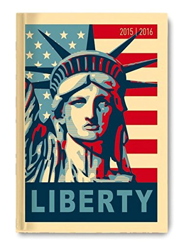 マークダウン無謀怠けたCollegetimer A6 day by day Liberty 2015/2016