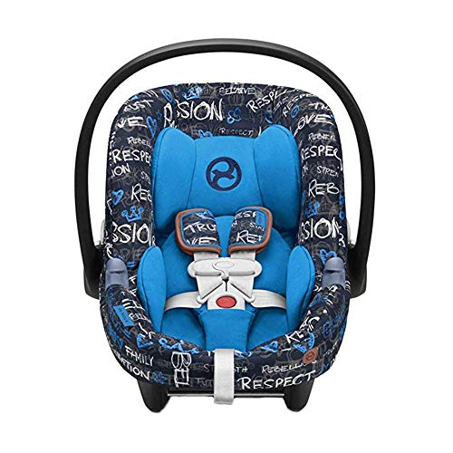 Why Should You Buy Cybex Aton M Rear Facing Infant Car Seat with SafeLock Base, Trust Blue