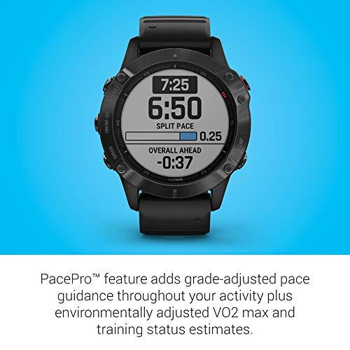 Garmin Fenix 6 PRO Smartwatch Multisport GPS con misurazione della frequenza cardiaca da polso, display da 1,3