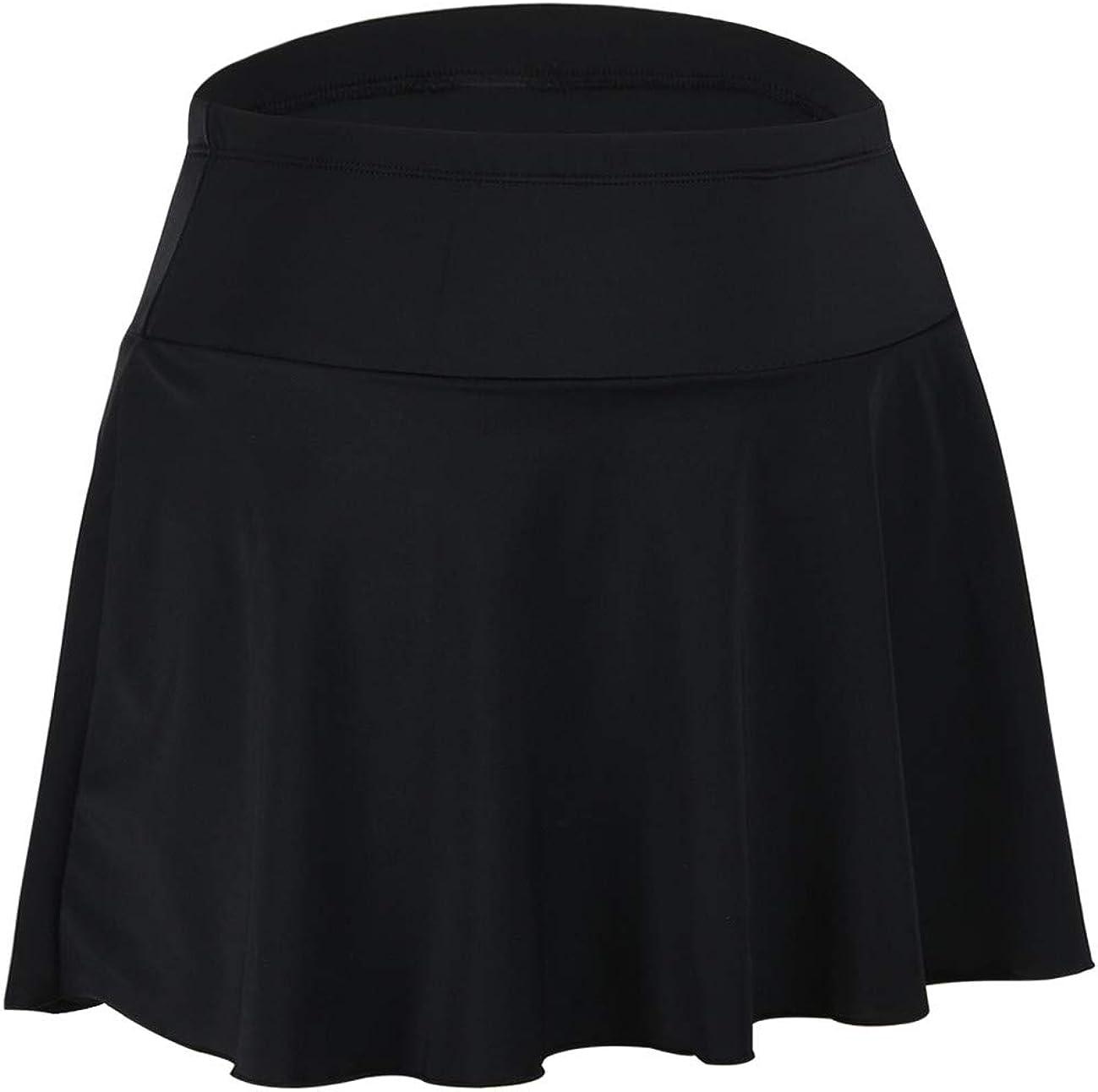 Septangle Womens Mini Swim Skirt with Brief Summer Beach Swimdress