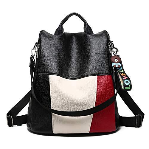 Tisdaini® Bolsos mochila Mujer moda casual marca colegio viaje escolares Bolsos bandolera Negro