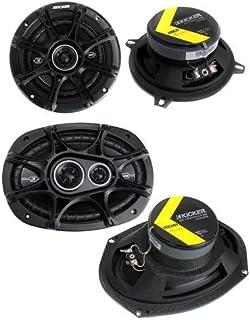 "KICKER 2 41DSC54 5.25"" 200W 2-Way + 2 41DSC6934 6x9 360W 3-Way Car Speakers photo"