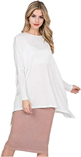 Ellie Top| Women's Oversized Top with Batwing Sleeves| T-Shirt Loose Tops | Casual Work Party Tee|