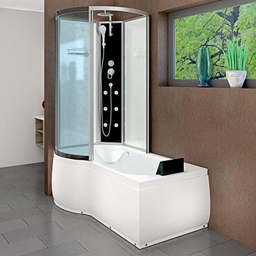 AcquaVapore DTP8050-A000R Wanne Duschtempel Badewanne Dusche Duschkabine 98x170, EasyClean Versiegelung der Scheiben:2K Scheiben Versiegelung +79.-EUR
