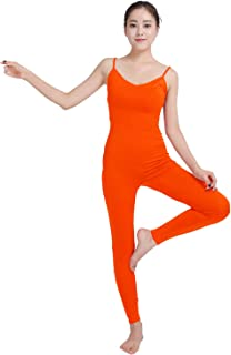 Shinningstar Girls' Women's Well-fit Spandex Lycra Tights Sling Type Dancing Unitard