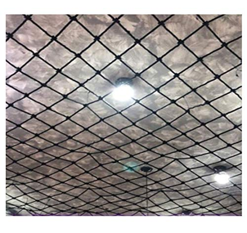 HJRD Child Safety Net, Nylon Rope Net Black, Balcony Net, Cat Net, Stair Anti-fall Net, Garden Fence Net, Decorative Climbing Net, Cargo Net, Hanging Net 2m 10m (Size, 1 * 3m(3 * 10ft))