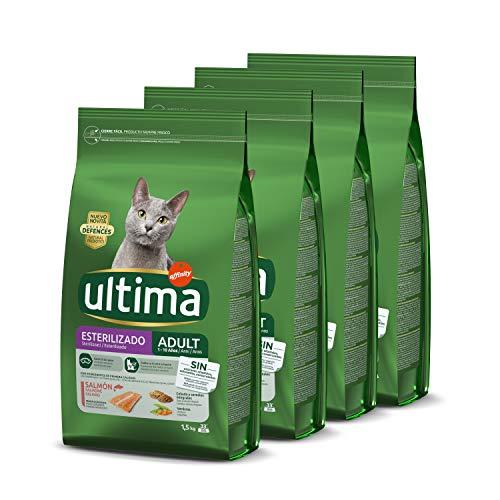 Ultima Cibo per Gatti Sterilizzati con Salmoni -Confezione da 4 x 1,5 kg - Totale: 6 kg