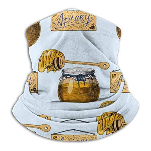 Niet van toepassing Apiary Bee Hand getrokken Vintage Honing maken Hoofdband Gezicht Masker Bandana Hoofd Wikkel Sjaal Nek Warmer Hoofddeksels Balaclava Voor Sport