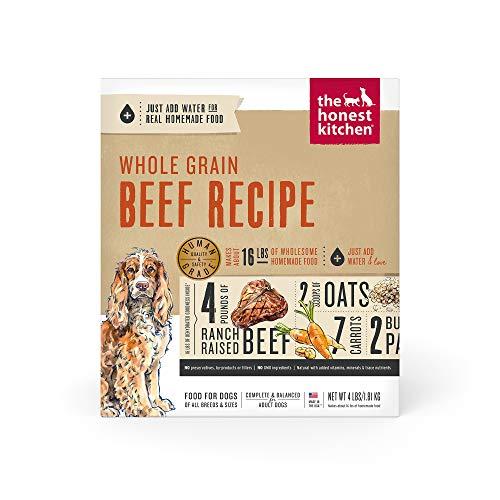 The Honest Kitchen Human Grade Dehydrated Organic Grain Beef Dog Food 4 lb - Verve