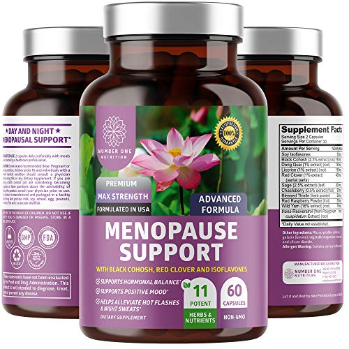N1N Premium Menopause Support for Women [11 Powerful Ingredients] All Natural Menopause Relief and Hormone Balance with Dong Quai and Black Cohosh to Reduce Hot Flashes and Night Sweats, 60 Caps