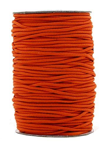Mandala Crafts Elastic Cord Stretchy String for Bracelets, Necklaces, Jewelry Making, Beading, Masks (Orange, 2mm 76 Yards)