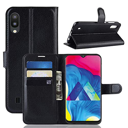 Capa Capinha Carteira 360 Para Samsung Galaxy M10 Tela De 6.22Polegadas Case Couro Flip Wallet - Danet (Preta)