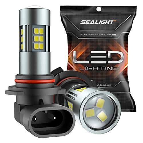 SEALIGHT 9006/HB4 LED Fog Light Bulbs, 6000K Xenon White, 27 SMD...