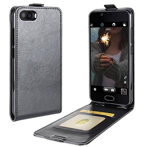 Litao-Case CN Hülle für DOOGEE Shoot 2 hülle Flip Leder + TPU Silikon Fixierh Schutzhülle Case 3