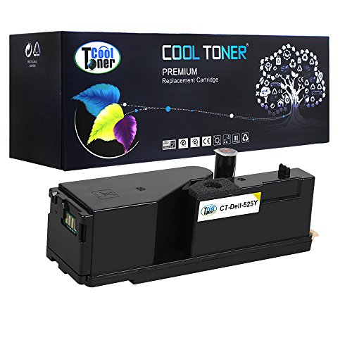 Cool Toner Compatible Toner Cartridge Replaces for Dell E525W (Yellow, 1-Pack)